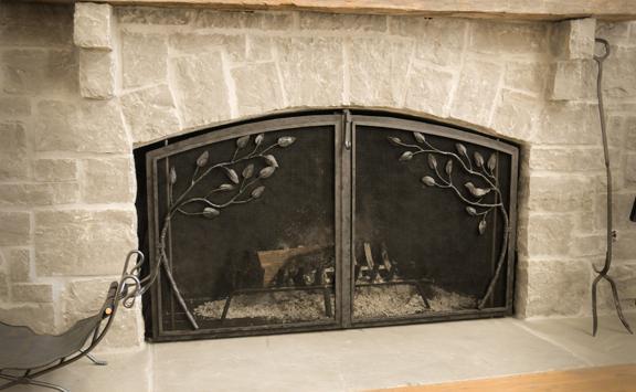Стеклянная дверца для камина своими руками